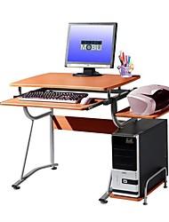 Недорогие -компактный современный компьютерный стол с отделкой из светлой вишни