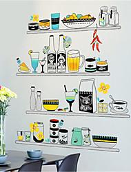 Недорогие -Модный ресторан кухонные шкафы маленькие свежие стеллажи наклейки на стены литературный гостиная диван фон украшения наклейки