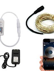 billige -BRELONG® 10 m Lysslynger / Smart Lights 100 lysdioder SMD 0603 Varm hvid / Hvid / Rød Vandtæt / APP kontrol / Kreativ 110-120 V 1pc