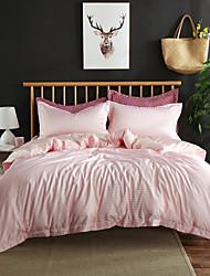 billige -dynebetræk sæt moderne / luksus / solid farvet rayon / polyester trykt 4 stykker sæt