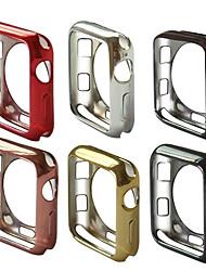 Недорогие -для яблочных часов серии 4 3 2 1 iwatch 38/42/40 / 44мм тонкий мягкий тпу защитный чехол