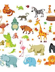 Недорогие -Декоративные наклейки на стены - Простые наклейки / Наклейки для животных Животные Детская