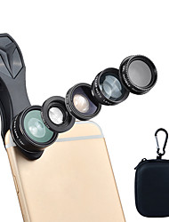 Недорогие -Объектив для мобильного телефона Объектив с фильтром / Объектив фиш-ай / Длиннофокусный объектив стекло / Алюминиевый сплав / ABS + PC 2X 25 mm 10 m 198 ° Творчество / Милый / Веселая