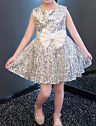 お買い得  -子供 女の子 水玉 / 波点 ドレス ピンク