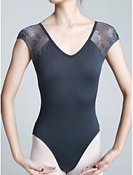 preiswerte -Ballett Turnanzug Damen Training Elastan Spitze Kurzarm Normal Gymnastikanzug / Einteiler