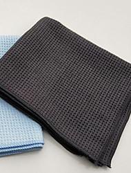 Недорогие -Микроволокно Полотенце из микрофибры Высокая впитывающая способность Светло-синий 45*40 cm