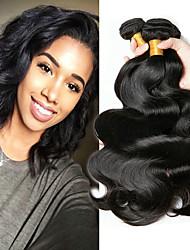 voordelige -4 bundels Braziliaans haar BodyGolf Mensen Remy Haar Menselijk haar weeft Bundle Hair Een Pack Solution 8-28 inch(es) Natuurlijke Kleur Menselijk haar weeft Beste kwaliteit Dik kleur Extensions van