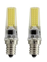 お買い得  -2pcs 3 W LEDキャンドルライト 450 lm E12 T 1 LEDビーズ COB 調光可能 温白色 ホワイト 110/220 V