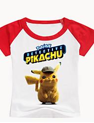 billige -Børn / Baby Drenge Basale Trykt mønster Trykt mønster Kortærmet Bomuld / Spandex T-shirt Sort