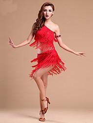 voordelige -Latin dans Outfits Dames Opleiding / Prestatie Elastaan Kwastje / Pailletten Mouwloos Rokken / Top