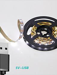 お買い得  -0.5m フレキシブルLEDライトストリップ / ライトセット / ストリングライト 30 LED 2835 SMD 温白色 / クールホワイト USB / 装飾用 / ウェディング USBパワード 1個