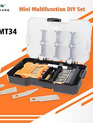 Недорогие -mini mt34 многофункциональный ручной набор инструментов разборка оборудования ремонт инструмента набор инструментов отвертки лезвия h4 ключи 45 мм бит