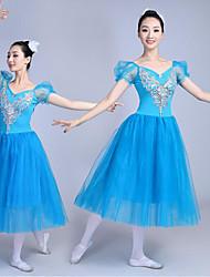 abordables -Danse classique Robes Femme Utilisation Modal Dentelle Robe