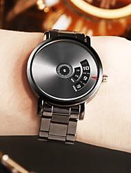 Недорогие -Муж. Нарядные часы Кварцевый Нержавеющая сталь Серебристый металл Ударопрочный Cool Аналоговый Цифровой На каждый день Мода Gunmetal Watch - Белый Черный Серебро / черный Один год Срок службы батареи
