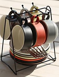 levne -evropský šálek kávy s miskou lžíce pohár držák keramický anglický odpolední čaj šálek domácí hrnek jednoduchý