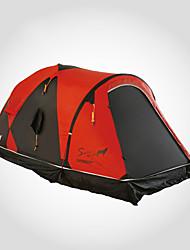 Недорогие -LONGSINGER 2 человека Семейный кемпинг-палатка На открытом воздухе С защитой от ветра Устойчивость к УФ Дожденепроницаемый Двухслойные зонты Карниза Палатка >3000 mm для Походы / туризм / спелеология