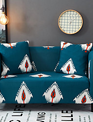 cheap -Sofa Cover High Stretch Feather Printed Soft Elastic Polyester Slipcovers