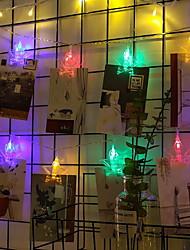 Недорогие -3 м держатели для фотографий клип строки огни 20 светодиодов многоцветный номер декоративные 220-240 В 1 компл.