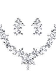 Недорогие -Жен. Свадебные комплекты ювелирных изделий Мода Серьги Бижутерия Серебряный Назначение Свадьба Для вечеринок 1 комплект