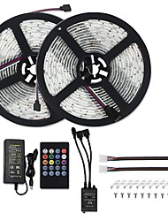 preiswerte -LED-Lichterketten Musiksynchronisation 5050 10m Sound aktiviert LED-Lichterketten 600 LED RGB-Farbwechsel LED-Lichterketten SMD 5050 Tape mit IR-Fernbedienung und 12V 6A-Netzteil