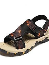 Недорогие -Муж. Комфортная обувь Сетка Лето Классика / На каждый день Сандалии Для прогулок Дышащий Серый / Черный / синий / Оранжевый и черный