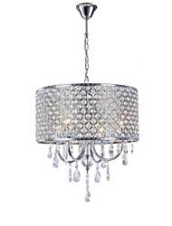 Недорогие -высококачественная гостиная люстра европейский люкс хрустальное железо подвесной светильник кабинет спальня столовая лампы и фонари