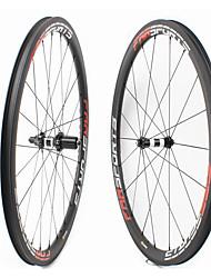 Недорогие -FARSPORTS 700CC Колесные пары Велоспорт 23 mm Шоссейный велосипед Углеродное волокно Подходит для клинчерной покрышки / бескамерной шины 20/24 Спицы 38 mm