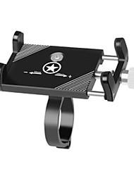 Недорогие -Крепление для телефона на велосипед Регулируется Противозаносный Anti-Shake для Горный велосипед Складной велосипед Велосипеды для активного отдыха Aluminum Alloy Велоспорт Черный Серебряный