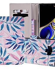 billige -Etui Til Samsung Galaxy Note 9 Pung / Kortholder / Med stativ Fuldt etui Træ Hårdt PU Læder for Note 9