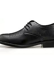 levne -Pánské Komfortní boty PU Jaro Business Oxfordské Prodyšné Černá