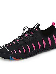 Χαμηλού Κόστους -Γυναικεία Ελαστικό ύφασμα Καλοκαίρι Αθλητικό / Καθημερινό Αθλητικά Παπούτσια Παπούτσια Upstream Επίπεδο Τακούνι Στρογγυλή Μύτη Ροζ / Μαύρο / Κόκκινο / Μαύρο / Μπλε