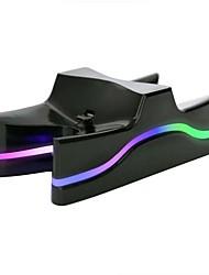 Недорогие -светодиодный двойной зарядная станция зарядки стенд для контроллера ps4 красочные лампы обработки двойной зарядки