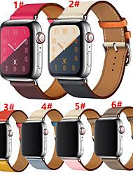 Недорогие -SmartWatch Band для Apple Watch серии 4/3/2/1 яблоко кожаный ремешок ремешок из натуральной кожи браслет