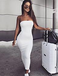 Недорогие -Полиэфир Клубное платье Супер секси Однотонный Особые случаи минималист