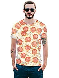 tanie -T-shirt Męskie Geometric Shape Pomarańczowy L
