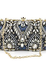 abordables -Mujer Bolsos Poliéster Bolso de Noche Brillante Diseño Geométrico Azul Piscina / Champaña / Negro