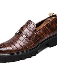 abordables -Homme Chaussures de confort Polyuréthane Printemps British Mocassins et Chaussons+D6148 Augmenter la hauteur Noir / Marron / Gland