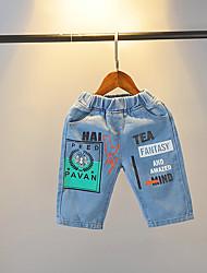 abordables -Enfants Garçon Basique / Chic de Rue Imprimé Imprimé Coton Jeans Bleu