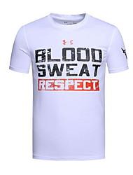 billige -Herre - Bogstaver T-shirt Hvid L