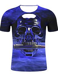 저렴한 -남성용 기하학 / 3D 티셔츠 푸른 XXL
