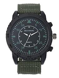Недорогие -Муж. Армейские часы Морские часы с печатью Кварцевый Черный / Синий / Коричневый 30 m Защита от влаги Повседневные часы Cool Аналоговый На каждый день Мода - Коричневый Зеленый Синий / Один год