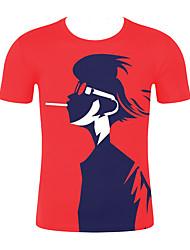 저렴한 -남성용 기하학 / 3D 티셔츠 루비 XXL