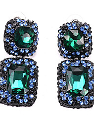 Недорогие -Жен. Синий Джаспер Серый Серьги-слезки Классический мир Художественный Классика Цветной Искусственный бриллиант Серьги Бижутерия Темно-серый / Тёмно-синий / Темно-зеленый Назначение / 1 пара