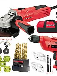 Недорогие -toolman 44шт электрическая угловая шлифовальная машина дисковая боковая шлифовальная машина 4-1 / 2 4,8 ампер&усилитель; отрезать