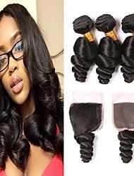 저렴한 -3 개 묶음 브라질리언 헤어 루즈 웨이브 레미 헤어 인간의 머리 직조 번들 헤어 한 팩 솔루션 8-28 inch 자연 색상 인간의 머리 되죠 라이프 클래식 섹시 레이디 인간의 머리카락 확장 여성용