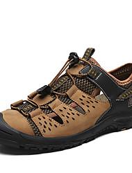 abordables -Homme Chaussures de confort Cuir Nappa Eté Simple Chaussures d'Athlétisme Chaussures d'Eau Respirable Noir / Kaki
