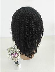 ieftine -Păr Natural Față din Dantelă Perucă Partea centrală stil Păr Brazilian Buclat Negru Perucă 150% Densitatea părului Dame Negru Pentru femei Scurt Altele Clytie