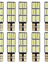Недорогие -Супер яркий can-bus t10 из светодиодов ширина свет из светодиодов номерного знака свет белый цвет автомобиля w5w светодиодные лампы
