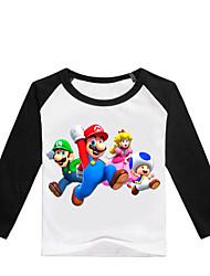 levne -Děti / Toddler Chlapecké Základní Tisk Tisk Dlouhý rukáv Bavlna / Spandex Košilky Černá