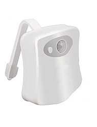 Недорогие -Светодиодный ночной свет датчик движения 8 цвет творческий туалет свет